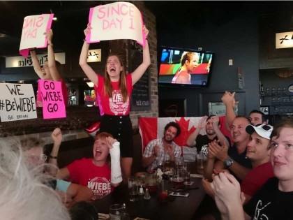 'Ottawa' Stittsville Fans Cheer Their 'Golden Girl' Erica Wiebe