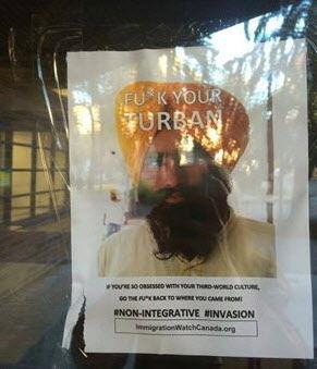 'Ottawa' Racist Posters Reading 'F— Your Turban' Litter University of Alberta